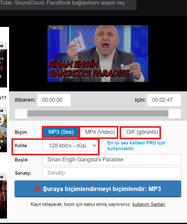 You Tube mp3 İndirme