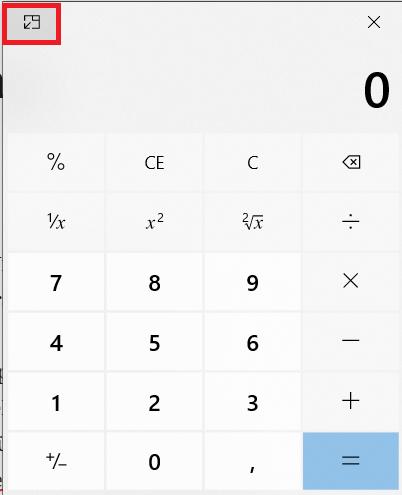 Windows Yeni Hesap Makinesi